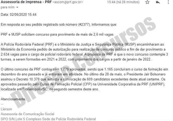CONCURSO PRF 41