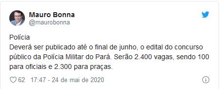 concurso pm pa twitte