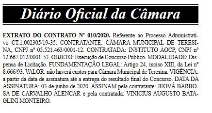 extrato de contrato concurso câmara de teresina 3
