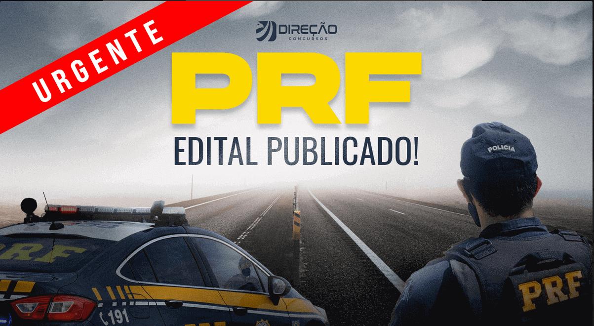 Edital publicado PRF com 1500 vagas