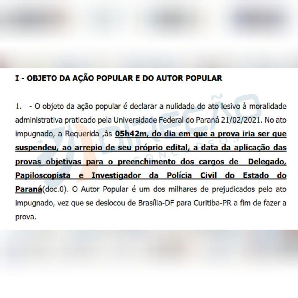 ação popular concurso pc pr