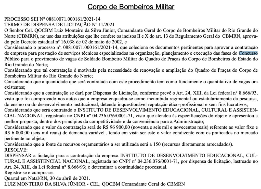 BOMBEIROS RNMIDECAN
