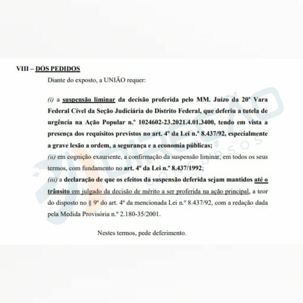 Concurso PRF - recurso AGU