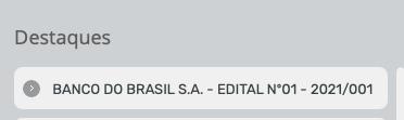 Inscrições banco do Brasil